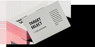 TargetSelect - Slider: Visitenkarte